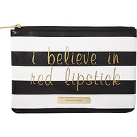 Camden Cheer Striped Flat Clutch