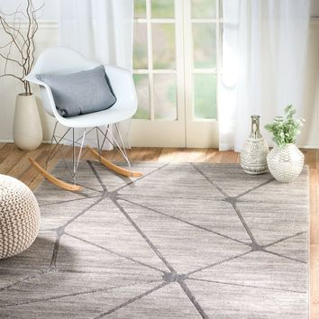 2089 Gray Thick Pile Contemporary Area Rugs