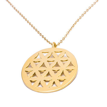 Flower of life necklace - Flower of life pendant, Sacred geometry necklace, Seed of Life necklace, mandala necklace, symbol necklace