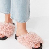 UO Faux Shearling Pool Slide | Urban Outfitters