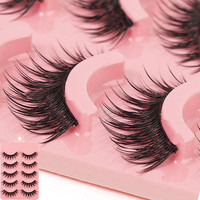 5 Pairs Long Makeup Cross Thick False Eyelashes Eye Lashes Nautral Handmade HU