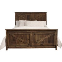 Better Homes and Gardens Falls Creek Queen Bed, Weathered Dark Pine - Walmart.com