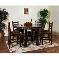 Sunny Designs Santa Fe Collection Five Piece Dining Set In Dark Chocolate 1225DC