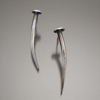 Sterling Nail Earrings