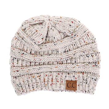 C.C. Beanie Cable Knit Beanie in Oatmeal HAT-33-OATMEAL