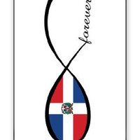 Infinity Forever Dominican Republic National Flag iPhone 5 Quality Hard Snap On Case for iPhone 5/5S - AT&T Sprint Verizon - Black Frame