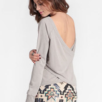 Back Vent Pullover By Chaser - $79.00 : ThreadSence, Women's Indie & Bohemian Clothing, Dresses, & Accessories