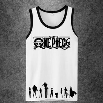 One Piece Fitness Workout Anime Tank Top