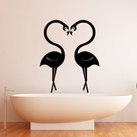 Vinyl Wall Decal Sticker Flamingo Love #1348