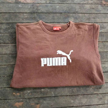 Puma sweatshirt Embroidery big logo vintage design hip hop