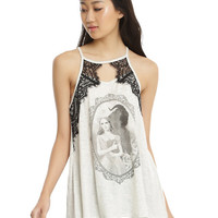 Disney Beauty And The Beast Lace Back Girls Tank Top