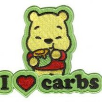 ROCKWORLDEAST - Disney Cuties, Iron-on Patch, I Love Carbs