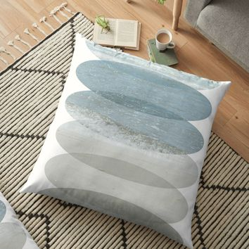 'Beach Fragments' Floor Pillow by by-jwp