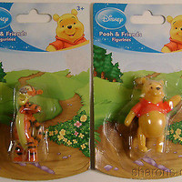 Disney Pooh & Friends Figurines Winnie The Pooh Tigger Toy Cake Topper Lot of 4
