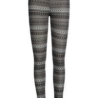 Film Noir Fleece Leggings | IWEARSIN