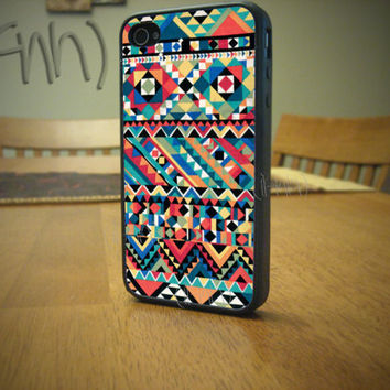iPhone 4 or 4S case Tribal Pattern iPhone case Multi Colored