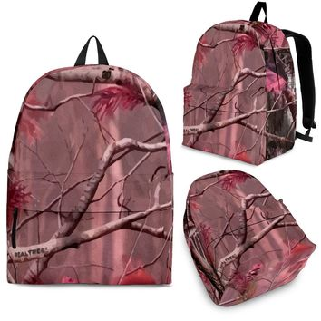 Rose Pink Camo Backpack