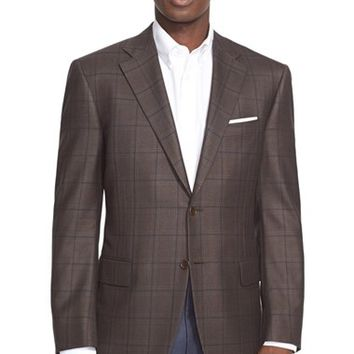 Canali Classic Fit Plaid Wool