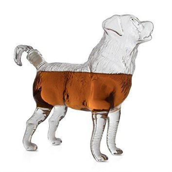 Dog Shaped Liquor Whiskey Decanter - by The Wine Savant, Beautiful Profile Of A Dog 500ml - Whiskey, Wine Scotch or Liquor Decanter