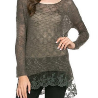 Anna Lace Knit Top
