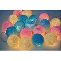 Sweet Candy - Pink Blue White Cotton Balls String Lights