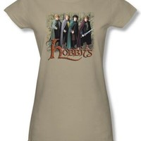 The Lord Of The Rings Juniors T-Shirt Hobbits Safari Green Tee Shirt