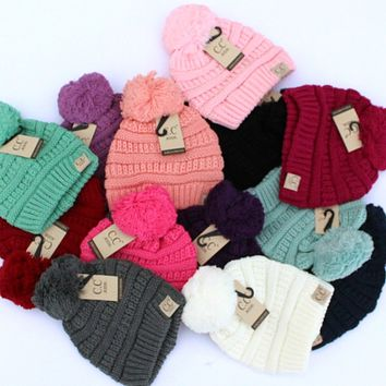 Kids CC Pom Beanie | Kids Beanies | Pom Pom Beanie for Kids