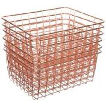 Mainstays Wire Basket 6 pack - Multiple Colors - Walmart.com