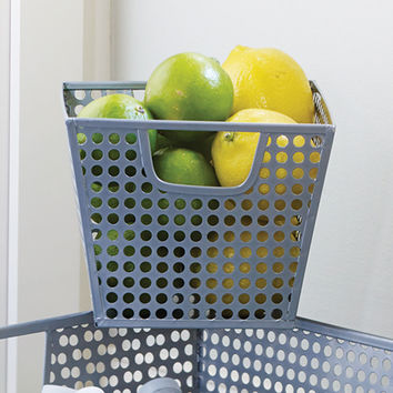 Silver Hole Punch Storage Basket - Small