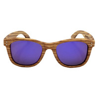 Popular Unisex Vintage Bamboo Frame Polarized Sunglasses Wooden Sunglasses With BlueGreenOrangeGrayPurpleMaroon Color
