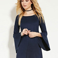 The Navy Suede Renaissance Dress