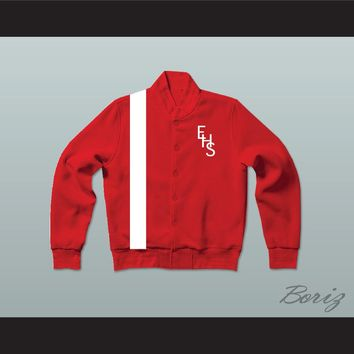 East High School Wildcats Red Varsity Letterman Jacket-Style Sweatshirt HSM3