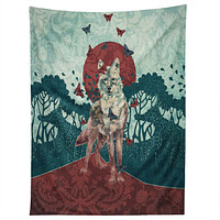 Belle13 Lady Butterfly Tapestry