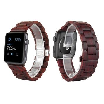 Apple iWatch Red Sandal Wood Band 38mm/42mm