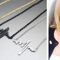 Gold Plated Heartbeat Necklace - Limited Time Only