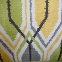 Yellow, Green,Grey, and Black Geometric Pillow Cover