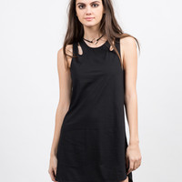 Multi Strap Tunic Dress