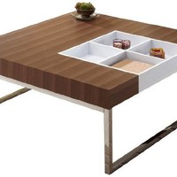 ioHOMES Chester Coffee Table with Display Tray, Walnut