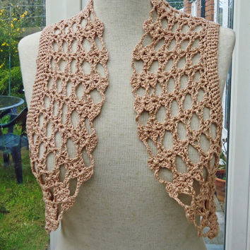 Beige Crochet Bolero / Cotton Bolero Jacket / Crochet Lace Shrug / Crochet  Jacket / Beige Cotton Lace Bolero Shrug, UK Seller