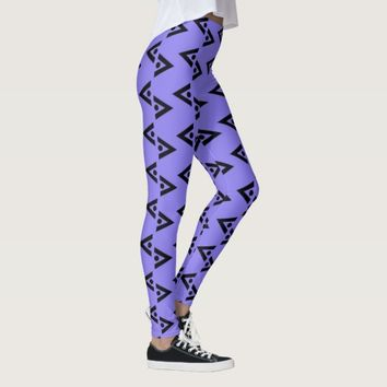 BLACK AND MAUVE LEGGINGS ABSTRACT HAVIC ACD