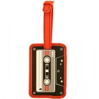 Flight 001 – Where Travel Begins.  Cassette Luggage Tag Red - Luggage Tags - All Products