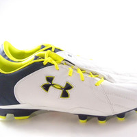 Under Armour Striker II White/Navy Blue/Lime Green Soccer cleats men's
