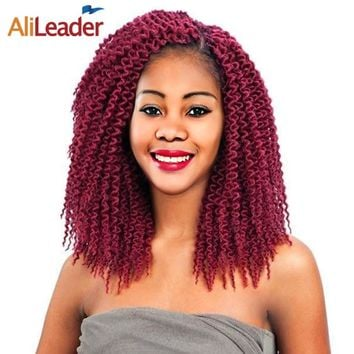 AliLeader Products Freetress Crochet Hair Extensions 12 18 22 Inch Long Crochet Braids Burgundy Kanekalon Braiding Hair Colors