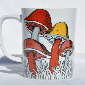 Fitz and Floyd 1979 Variations mushrooms mug