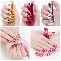 Nail Polish  Metallic Nail Polish Magic Mirror Effect Chrome Nail Art Polish Varnish  Nail Polish  dropshipping 18jun27