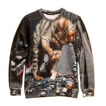 Godzilla Kitten Sweater