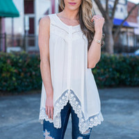 Back To Boho Tank, Cream