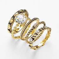 Ariella Collection Cocktail Stack Rings (Set of 5)