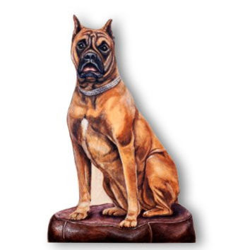 The Stupell Home Decor Collection Boxer Decorative Dog Door Stop