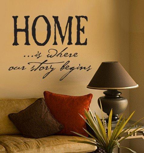 Wall Decal Home is Where Our Story Begins by decorexpressions